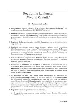 Regulamin XXX Rajdu Andrzejkowego