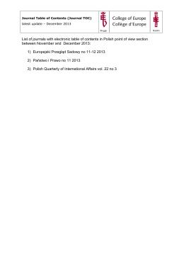 Zarządzenie Nr 1 / 06 / 2014 r. w sprawie dopuszczenia do użytku w