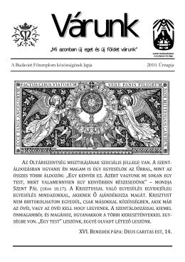 Úrnapja (PDF - 920 KB) - Mátyás