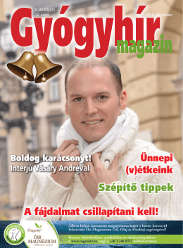 2010. december - Gyógyhír Magazin