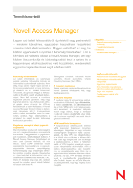 Novell Access Manager