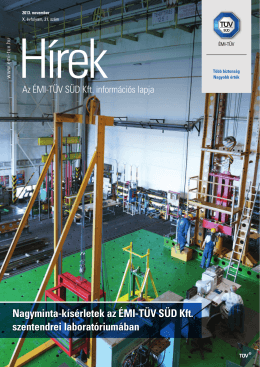 ÉMI-TÜV Hírek 2013. / 21. [ PDF 6469 kB ] - ÉMI
