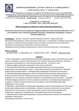 Zarządzenie Prezydenta Miasta Gliwice w sprawie konsultacji