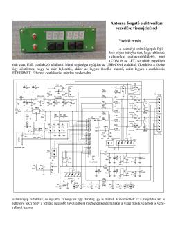 Interface az antennaforgatóhoz Ethernet porttal -új verzió