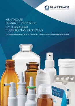 HealtHcare Product catalogue gyógyszeriPari