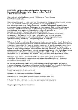 Protokół zebrania wiejskiego we wsi Pogórze z dnia 22.09.2014 r