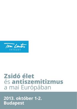 Zsidó élet és antiszemitizmus a mai Európában