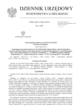 Obwieszczenie - Urząd Gminy Wilga