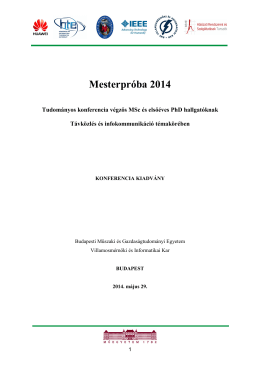 MESTERPRÓBA 2014 elektronikus konferenciakiadvány