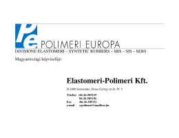 Europrene-SBS-SIS-SEBS-HU - Elastomeri