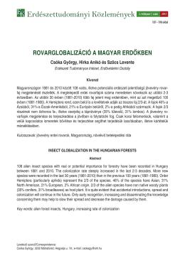 Rovarglobalizáció a magyar erdőkben
