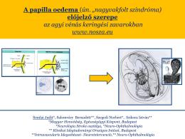 """A papilla oedema (ún. """"nagyvakfolt szindróma) előjelző"""