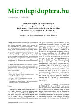 Seven new species (PDF)