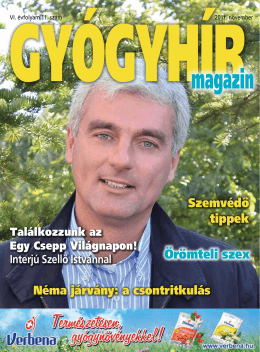 2011. november - Gyógyhír Magazin