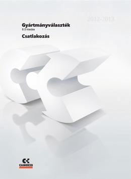 Camozzi Gyártmányválaszték [8.5] - 4. fejezet - Tech-Con
