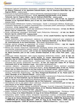 Regulamin Przyznania Medalu im. Matki Teresy z Kalkuty