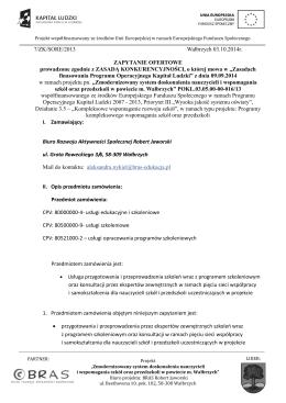 Andrzej Kaleta Architekt rozwiązań biznesowych obszary