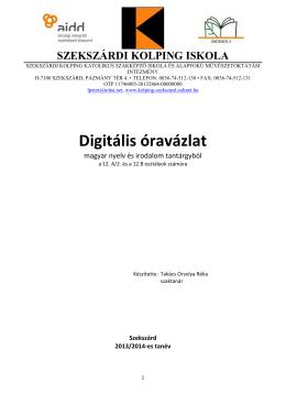 Digitális óravázlat