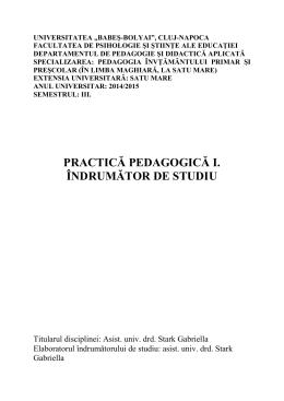 Pedagogiai gyakorlat, tavoktatas, 2014