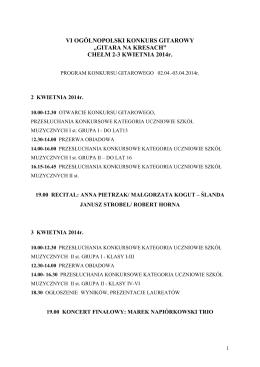 Kalendarz wydarzeń - Gmina Bystra
