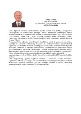 Szügyi György elnök-vezérigazgató, Euromenedzser
