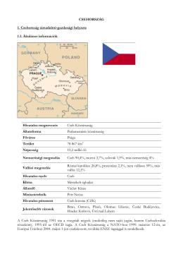 CSEHORSZÁG 1. Csehország társadalmi
