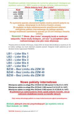Informacja Miejskiej Komisji Wyborczej w Mogielnicy