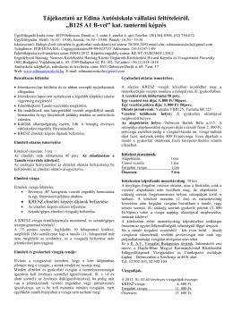 B125 Kategória - Edina Autósiskola