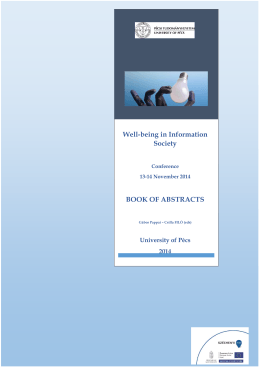 Well-being in Information Society BOOK OF ABSTRACTS