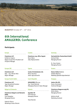 6th International AMALGEROL Conference