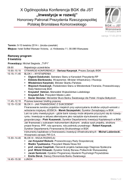 Lista startowa - Społowicz Jaroszówka