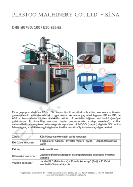 PLASTOO MACHINERY CO., LTD. - KÍNA
