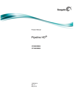 Pipeline HD® SATA Product Manual - 100633414