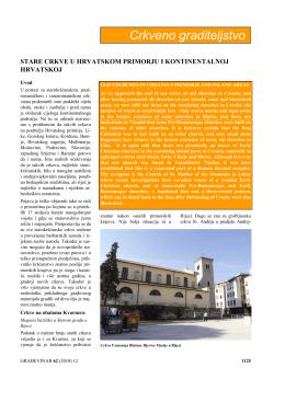 Stare crkve u Hrvatskom primorju i kontinentalnoj
