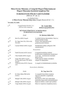 Tudományos Fölolvasó Ülés program – PDF