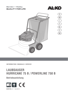LAUBSAUGER HURRICANE 75 B / POWERLINE 750 B