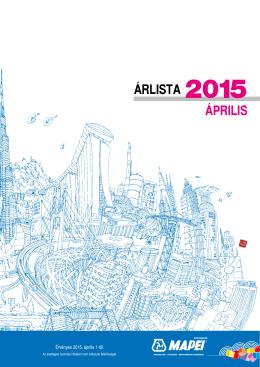 Mapei Árlista 2015. április 1-től
