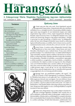 (PDF - 2,54 MB)... - Mária Magdolna Plébánia, Zalaegerszeg