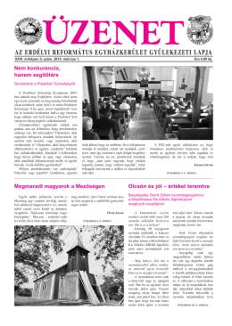 2015. március 1. lapszám - Erdélyi Református Egyházkerület