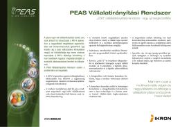 PEAS Vállalatirányítási Rendszer