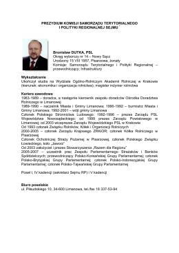 Curriculum Vitae Jowita Anna Rząsowska