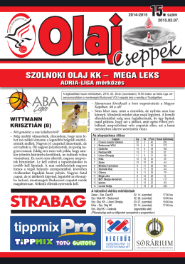 OlajCseppek - Szolnoki Olaj KK
