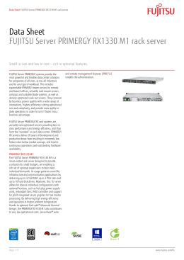 Data Sheet FUJITSU Server PRIMERGY RX100 S8 Mono