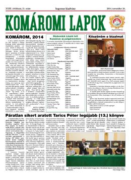 Komáromi Lapok 21/2014