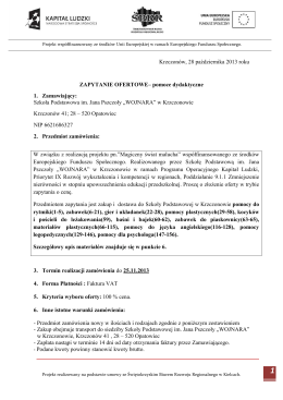 Regulamin II Powiatowego konkursu dla szkół gimnazjalnych