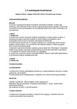 2. A szakdolgozat követelményei