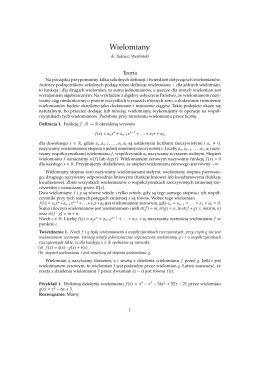 Wyznaczanie asymptoty wielomianowej funkcji