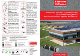 Nemjárható lapostetők csapadékvíz elleni bitumenes lemez
