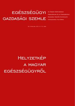 egészségügyi gazdasági szemle Helyzetkép a magyar