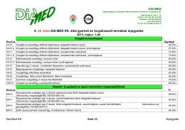 Dia - Med árjegyzék 2013